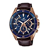 Casio Edifice Analog Blue Dial Men's Watch - EFR-552GL-2AVUDF (EX358)