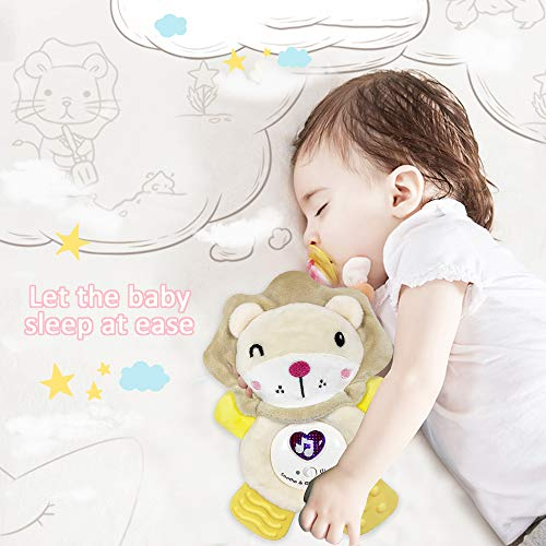 WISHTIME Baby Crib Toys with Baby teethering, Infant Huggable Lion Light Soother, Musical Sleep Gifts for toddles Toys
