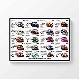 LJW Poster mit Autogramm der Formel 1 Fahrer 2020