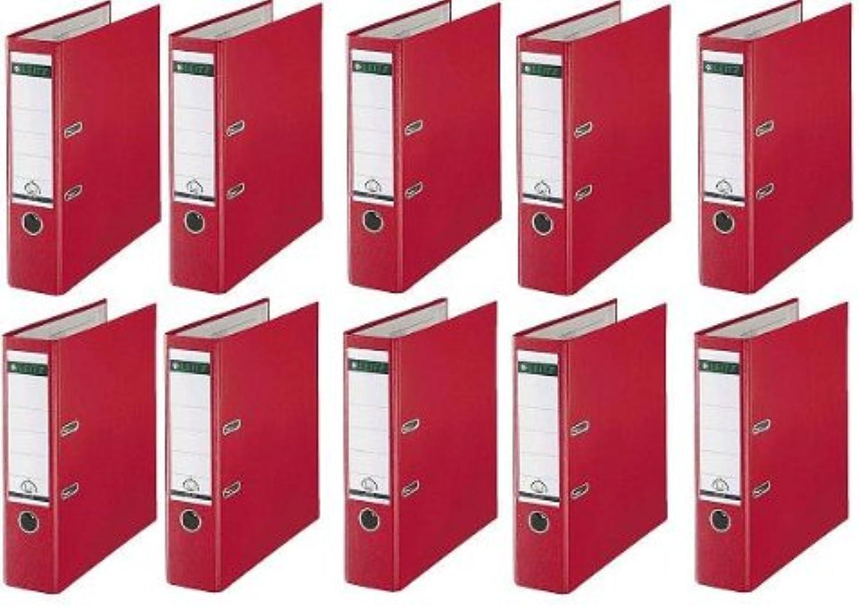10 LEITZ Ordner 180° 1010-50-25 Rot Kunststoff 8cm 8cm 8cm Plastik PP Aktenordner 80mm DIN A4 Büro mit Schlitzen B00IHXU958 | Offizielle  6ba4a3