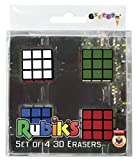 iscream Old School! Rubik's Cube Set of 4 3D Mini Erasers...