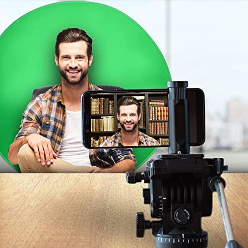 Webaround Big Shot 142 | Tragbarer, zusammenklappbarer Webcam-Hintergrund | Video Chat | Webkonferenz | Grüner Bildschirm für Stuhl | Von zu Hause aus arbeiten | Virtuellen Hintergrund zoomen | Skype