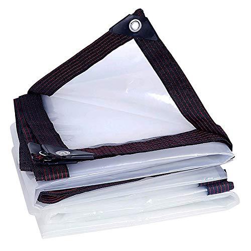 YPSOU Lonas Transparentes Lona Transparente Impermeable con Ojales Cubierta De Lona Resistente Antienvejecimiento, Resistente Al Desgarro, para Techo, Jardín, Piscina, Exterior(Size:4×6M)