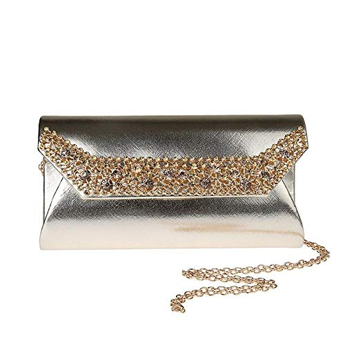 xiangpi New PU Clutch, Casual Clutch, Banquet Bag, Dinner Bag, Evening Bag, Dress Bag-904 golden