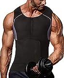 NIGNMI Sauna Vest for Men - Waist Trainer Sweat Vests 2 in 1 Sauna Suit Workout Belt Neoprene Body Shaper