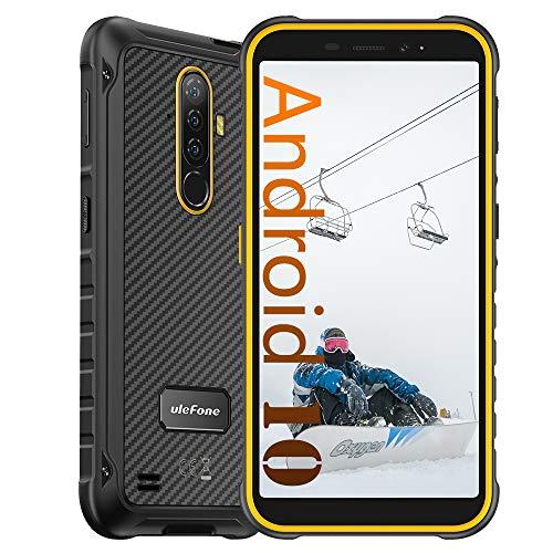 Ulefone Armor X8 Rugged Smartphone Rugged in Offerta - 4 GB RAM + 64 GB ROM, Fotocamera da 13 MP, 5080 mAh, HD + Schermo 5.7 , Android 10 IP68 Telefono Cellulari Resistente, NFC FM Arancia