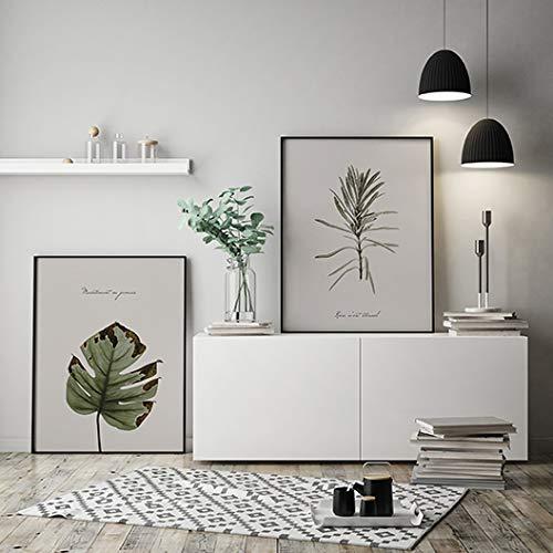 MILUKA Pack de 2 Láminas Decorativas para enmarcar colección FEUILLES (Láminas Hojas Verdes - Naturaleza) | Tamaño 50x70cm