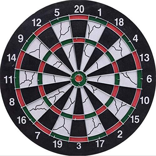 JHNEA Dartscheibe, Softdart Safety Darts, 6 Pfeile, kindgerecht, Standfuß Sicherheits-Dartboard,Black_12inch