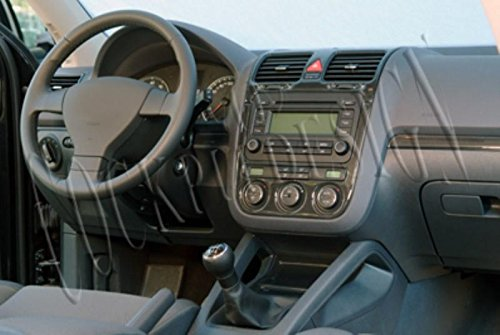 MERIC Decoración de Salpicadero (CD-WU00608) Versión 3D exclusiva, específicamente para el vehículo, 16 Pieza, Color: Burl