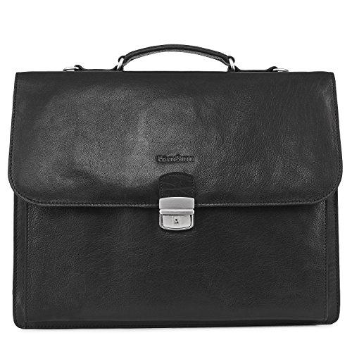 FEYNSINN Aktentasche echt Leder Emilio XL groß Businesstasche Bürotasche Laptoptasche Laptopfach 15.6