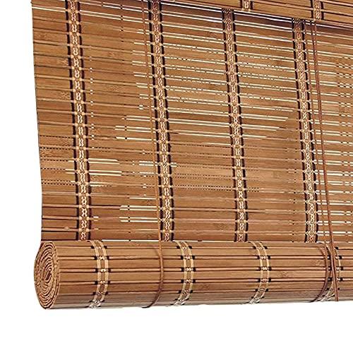 Persianas Estores De Bambú Exterior, Ventanas Y Puertas Persianas Enrollables, Fácil De Limpiar Y Hanging, Cortina De Bambú Para Cocina Ventanas, 90cm 140cm ( Size : W 110 x H 155 cm (43 x 61 in) )
