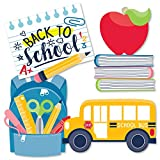 Big Dot of Happiness Back to School - Backpack, School Bus, Apple and Books Decorations DIY First Day of School Classroom Essentials - Set of 20