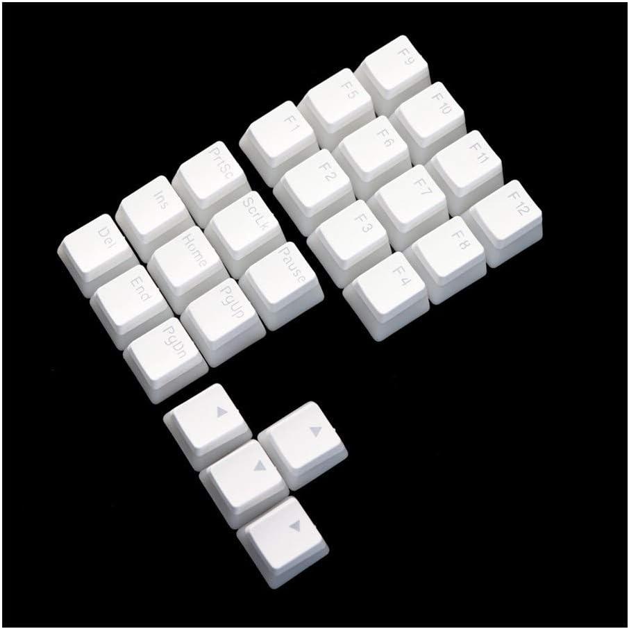 Man-hj Keyboard keycaps Double Shot Keycap Pbt Pudding 21key Numpad Multimedia Key F1-F12 Keycaps Color : OEM Black