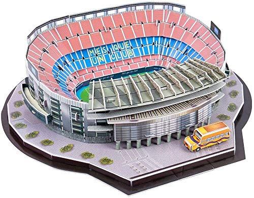 LANXIAO LT Juego de Modelos de Bricolaje del Estadio de Fútbol Camp NOU del Rompecabezas 3D, Puzzle Estadio Santiago Bernabéu, Modelo de Arquitectura Mundial, Juguete Educativo para Niños y Adultos