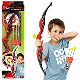 URBN-TOYS KIds Childrens Toy Archery Sets, Bow and 3 Arrows with Suction Cups, Outdoor Target Practising Shooting Game (Red/Grey)