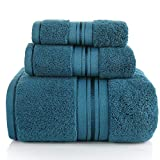 NOBRAND Juego de toallas de baño de tres piezas, en caja de regalo, toalla cuadrada de tres piezas, bordado más grueso