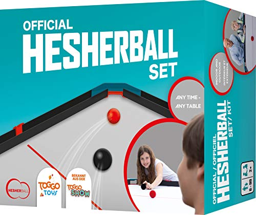 HesherBall Unisex Jugend Tischballspiel Funsportspiel Set im Display, Bleu Pink, 20 cm