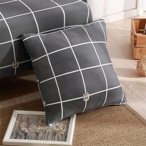 SUUZQK Funda De Almohada De Impresión Cuadrada De La Funda De Almohada De La Materia Textil Casera para La Decoración Interior del Dormitorio Casero 2Pcs 18x18Inch(45x45cm)