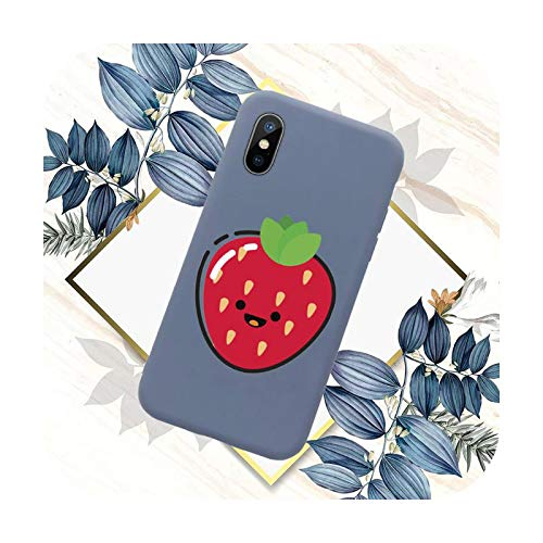 Dibujos animados divertido caja del teléfono de la fruta del color caramelo para el iPhone 11 12 mini pro XS MAX 8 7 6 6S Plus X SE 2020 XR-a2-iphone7or8