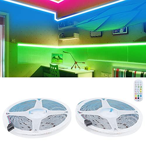 Zoumminny Tira de luz LED, luz de Cuerda Flexible 12V WiFi Lámpara Que Cambia de Color para Dormitorio para Sala de Estar para Cocina