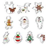 ShengRuHai 10Pcs Navidad Moldes de Galletas,Inoxidable Navidad Cortadores de Galletas -árbol de...