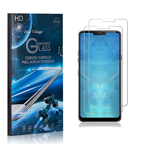 Bear Village® Displayschutzfolie für LG G7 ThinQ, 9H Hart Panzerglasfolie, Anti Kratzen, 99% Transparente Schutzfilm aus Gehärtetem Glas für LG G7 ThinQ, 2 Stück