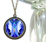 Blue Chakra Necklace Twin Flames Jewelry