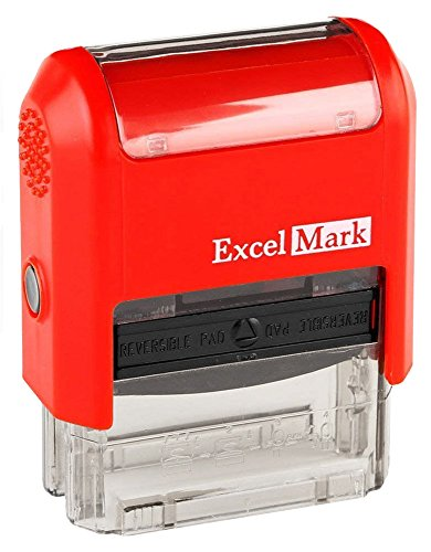 Sign HERE - ExcelMark Self-Inking Two-Color Rubber Office Stamp - Red and Blue Ink Photo #6