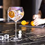 Gafas de Ginebra de colores - Juego de 2 | Vasos de cóctel 700ml Copa de Balon Gin Glass | Beber regalos | Juegos de vajilla de vidrio | M&W