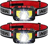 LED Head Torch, USB Headlamp Rechargeable, Super Bright 1000 Lumens COB LED Headlight, 80g, with IPX5 Waterproof for Running, Camping, Hiking, Hunting, Climbing, Kids