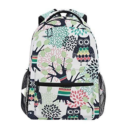 Daypack Búhos del Bosque Niños Niñas Mochila Ligera Mochila De Moda Escuela Universitaria Viaje De Estudiante Impresión Regalo De Cumpleaños Mochila Escolar Viaje Duradero Casual