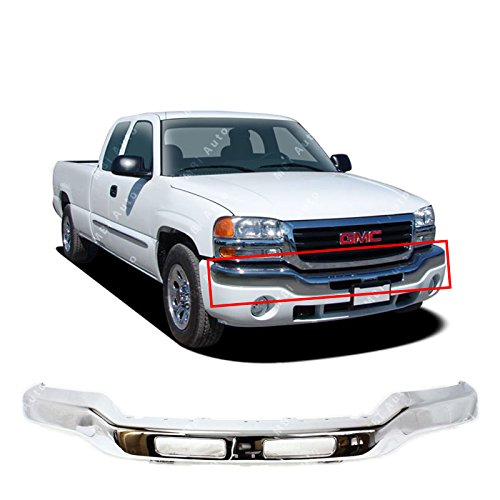 MBI AUTO - Chrome Steel, Front Bumper Face Bar for 2003 2004 2005 2006 GMC Sierra 1500 2500HD 3500 & 2007 Classic Pickup, GM1002418