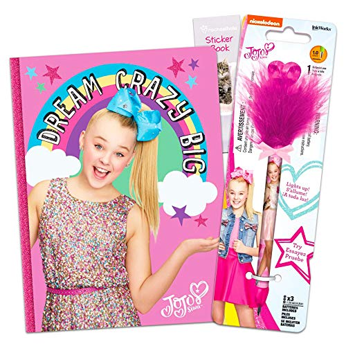 InkWorks JoJo Siwa Diary Pen School Supplies Set -- JoJo Siwa Journal with Deluxe Pen and Stickers (JoJo Siwa Gifts...