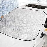 CHUTD 190 * 116cm magnetische Auto Windschutzscheibe Schneedecke Plane Winter Eiskratzer Frost Staubschutz Sonnenschutz (Farbe: Silber)