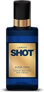Layer'r Shot Alpine Fresh | Long Lasting Body Spray | for Men | 130ml