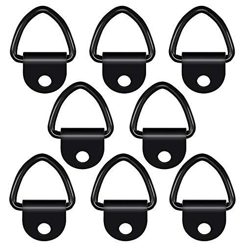 Gobesty Zurröse V Aufbauring Schwerlast, 8 PCS 1100 lbs Edelstahl V Aufbauring Ring V Ring Zurröse Anhänger zur Ladungssicherung in PKWs Kajak und Anhängern geeignet (Schwarz)