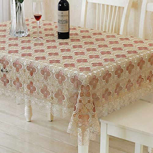 Dentelle Tissu Nappe De Fil De Verre Carré Rectangle Table Cover Floral PatternsTablecover for Home Decor (taille : 150 * 150cm)