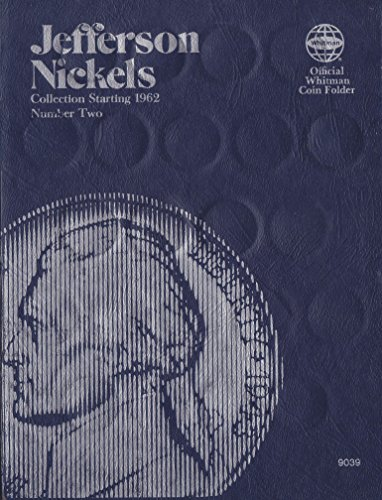 1962-1995 Jefferson Nickels Number Two No 9039 Whitman Tre-fold Album Fold#12/78
