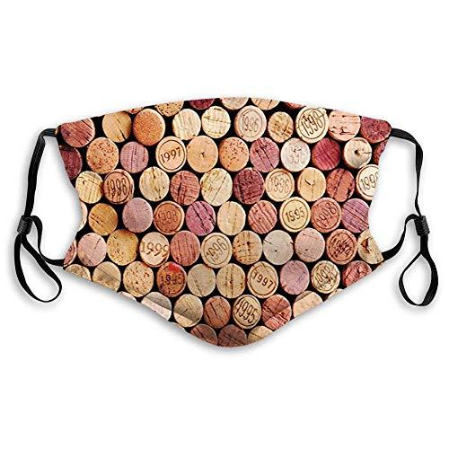 KENDIA Bequeme winddichte Maske, Wein, zufällige Auswahl gebrauchter Weinkorken Vintage-Qualität Gourmet-Geschmack Likör, Senf lila Kastanienbraun