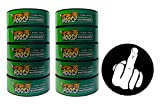 Hooch Herbal Snuff Wintergreen Fine Cut 10 Cans with DC Crafts Nation Skin Can Cover - Middle Finger