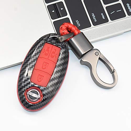 Funda para llave de coche de ontto con 4 botones para Nissan Elgrand Quest NV200 MPV Evalia Serena 2