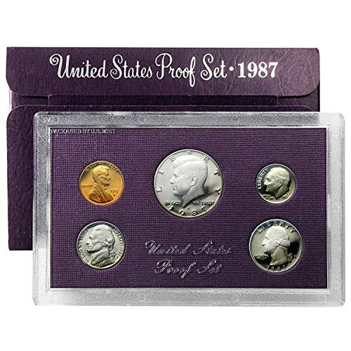 1987 S Proof Set 5 Coin Set OGP Original Government Proof