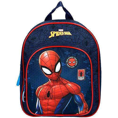 Marvel Mochila escolar primaria para niños, de los Vengadores, Spiderman, azul, 31 x 25 x 9 cm