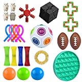Erdqs 24 Pack Sensory Toys Set, Relieves Stress and Anxiety Fidget Toy for Children Adults, Special Toys Assortment for Birthday Party Favors