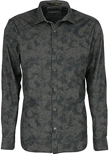 No Excess - Camisa Manga Larga ESTAMPADA - gris, 3XL