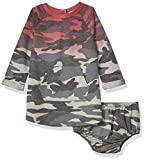 Splendid Baby Girls Long Sleeve Dress, Dusty Olive - Infant, 6/12 mo