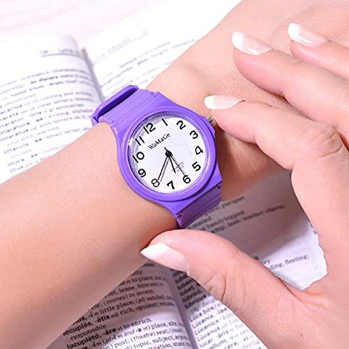 Relojes De Pulsera para Niñas,Nuevo Tick Digital Watch Watch Female Simple Impermeable Temperament Students Anti-Fall Children