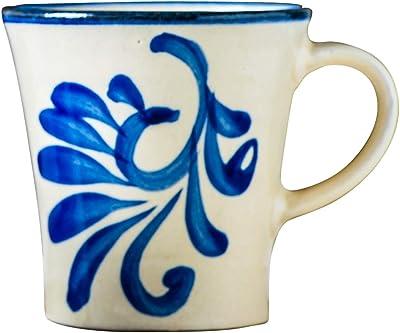 山下工芸(Yamashita kogei) マグカップ コバルト唐草 W9.5×D12×H9cm 日本製 やちむん マグカップ 453019