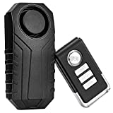 Favoto Powersports Alarm with Remote, Anti-Theft Waterproof Wireless Vibration Motion Sensor Alarm for Bicycles, Motorcycles, Scooters, Doors, Windows, 113dB Loud