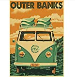 N/P Tv Series Outer Banks Poster Leinwand Papier Vintage
